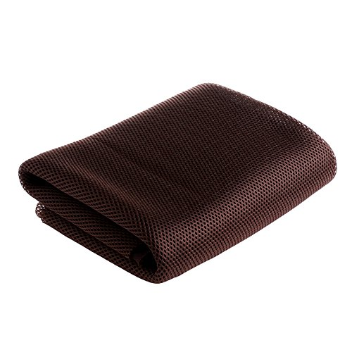 XUD-140x50cm Speaker Grill Dust-proof Cloth Stereo Gille Fabric Speaker Mesh Cloth (Coffee) - Guitar Speaker Grill Cloth