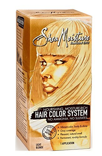 Hair Coloring System (Shea Moisture Hair Color System Light Blonde - Sulfate-Free Permanent Hair Dye With No Ammonia – Salon Quality Moisture, Strength &)