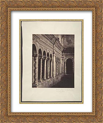 Robert Macpherson - 28x36 Gold Ornate Frame and Double Matted Museum Art Print - Cloisters of St. Paul's, The Basilica, Outside The Walls of Rome