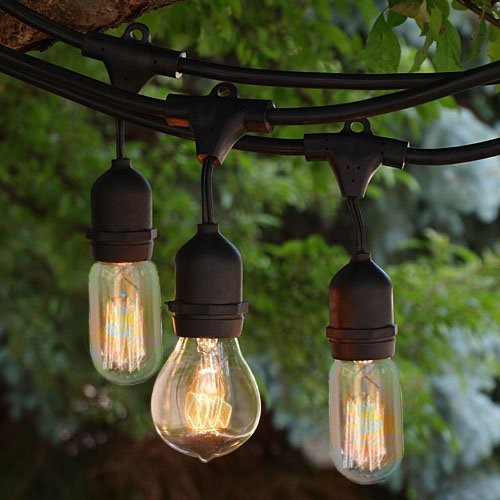 Mix-Match BIG Edison Style bulbs LONG 48ft! Cool Look! Heavy Duty/Weatherproof Light Strand -18 Large (9 each) Bulbs Included- Great for Parties or any Occasion or Add Ambiance to A Yard or Patio