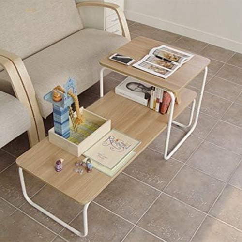 Folding table Nan Mesa de Centro rústica - Efecto de Madera ...