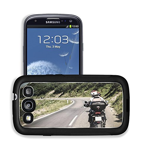 Liili Premium Samsung Galaxy S3 Aluminum Case Racer on mountainous highway biker riding along Alpine mountains travel to Europe summer vacation extreme sport Image ID 22126607
