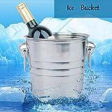 sudarathkshop Stainless Steel Ice Bucket Champagne Barrel Beer Wine Cooler