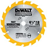 DEWALT DW9155 6-1/2-Inch 18 Tooth ATB Fast Cutting Carbide Saw Blade with 5/8-Inch Arbor