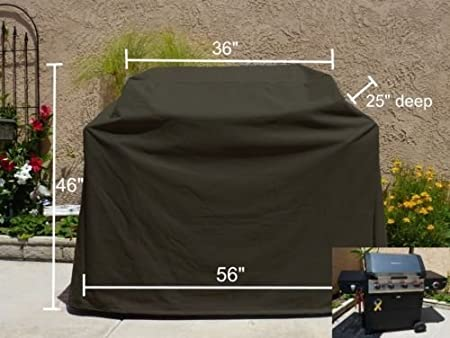 "BBQ Grill Cover Fit Char Broil COMMERCIAL SERIES 500 3-BURNER INFRARED 56/""L New"