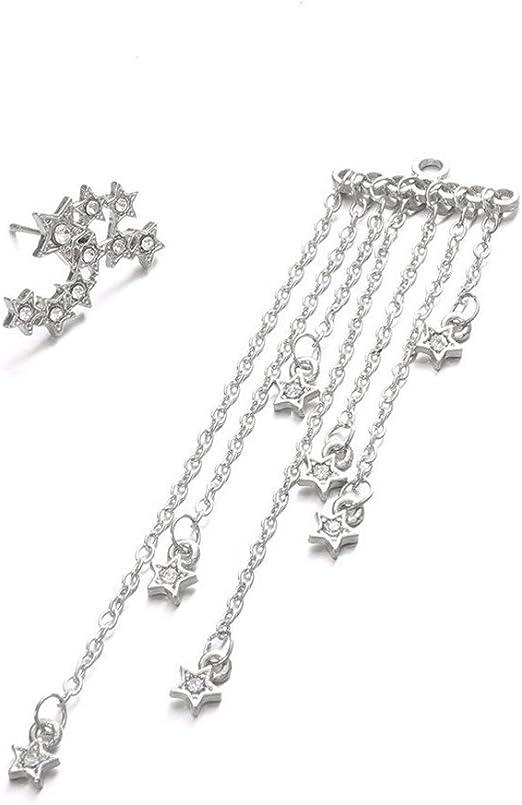Women Bling Ball Earrings Long Chain Drop Dangle Fashion Earrings Jewelry 1 Pair