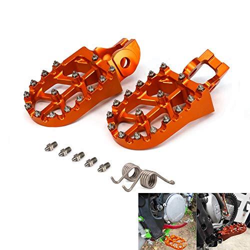Foot Pegs Footpegs Foot Pedals Rests Billet MX Wide CNC For KTM SX XC-W TPI SX-F XC-F EXC-F XC XCF SX-F 85 125 150 250 300 350 450 500 2016 2017 2018 2019 Motorcycle Dirt Bike - Orange (Best 250 Dirt Bike 2019)