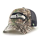 NFL Seattle Seahawks Realtree Huntsman Closer Stretch Fit Hat, Large/X-Large, Realtree/Navy