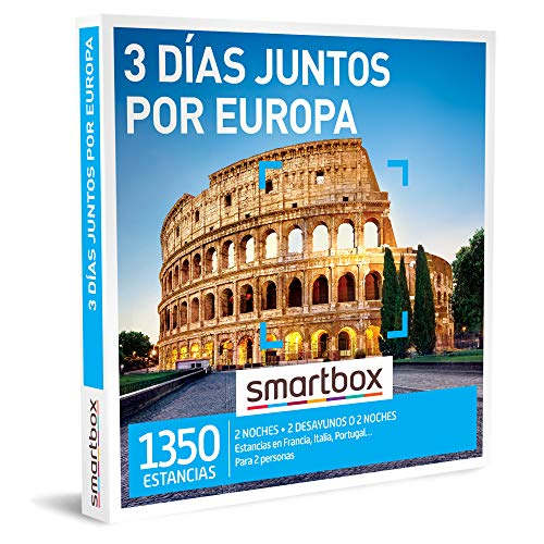 Smartbox – Caja Regalo Amor para Parejas – 3 días Juntos por Europa – Ideas Regalos Originales – 2 Noches con Desayuno o…