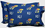Kansas Jayhawks Royal Blue Standard Pillow Case