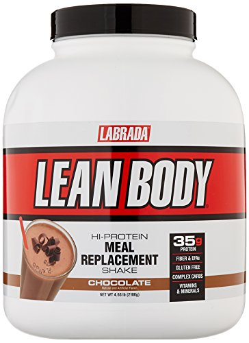 Labrada Nutrition - Lean Body Protein Meal Replacement Shake, Whey Protein Powder for Muscle Growth and Recovery, Chocolate, 4.63-LB Tub - Meal Replacement Shake Protein Powder