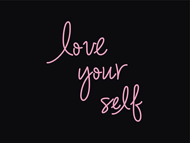 Amazon love yourself real glass neon sign for bedroom garage love yourself real glass neon sign for bedroom garage bar man cave room home wall decor solutioingenieria Choice Image