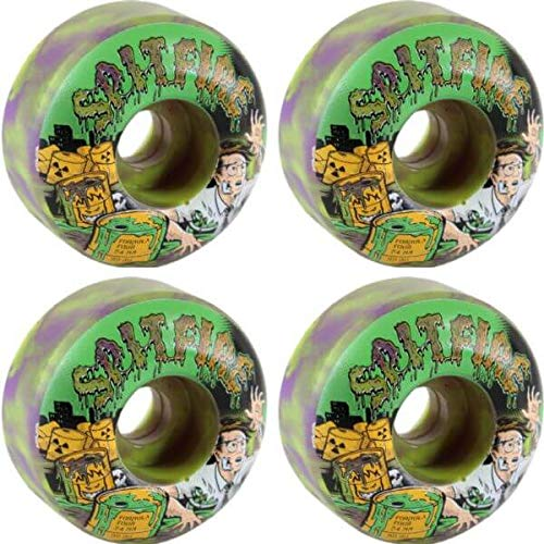 Spitfire Wheels Formula Four Classic Toxic Apocalypse Purple/Greenスケートボードホイール – 54 mm 99 a (Set of 4 )   B07FQ9T33R