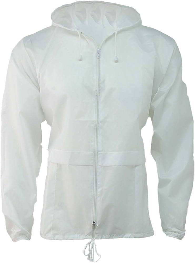 Light Blue, XL G5 APPAREL Lightweight Unisex Water Resistant Plain Kagool Jacket