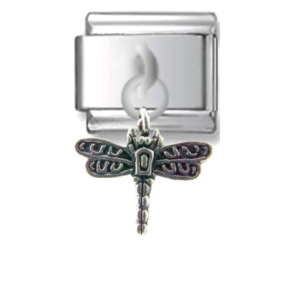 Dragonfly Silver Italian Charm