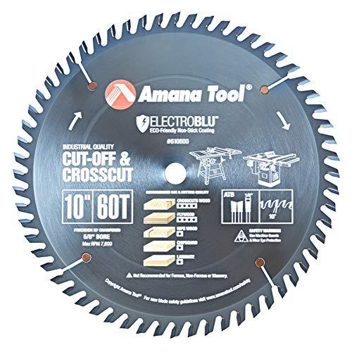Amana Tool - 610600C Electro-BLU Carbide Tipped Cut-Off & Crosscut 10