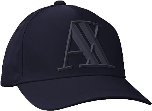 Armani Exchange Rubber Logo AX Cap Gorra de béisbol, Azul (Navy ...