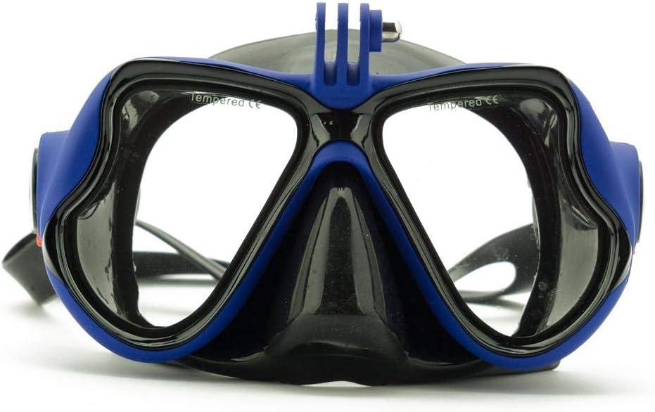 قناع نظارات غطس وسباحة مع قاعدة تثبيت لكاميرا جو برو، شيومي يي او اي كاميرا اكشن