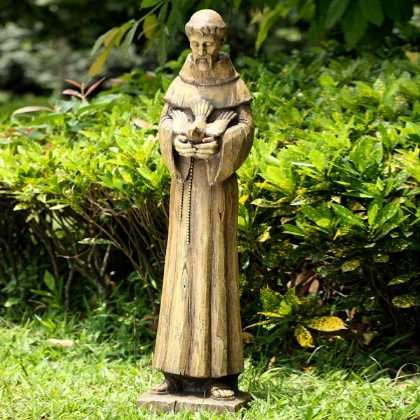 Amazoncom Resin Saint Francis Of Assisi Garden Statue 37