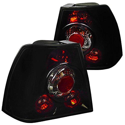 Spec-D Tuning LT-JET99BB-TM Vw Jetta Bora Smoke Lens Glossy Black Altezza Tail Rear Lights