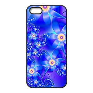 Artistic aesthetic blue fractal fashion phone case for iPhone 5s