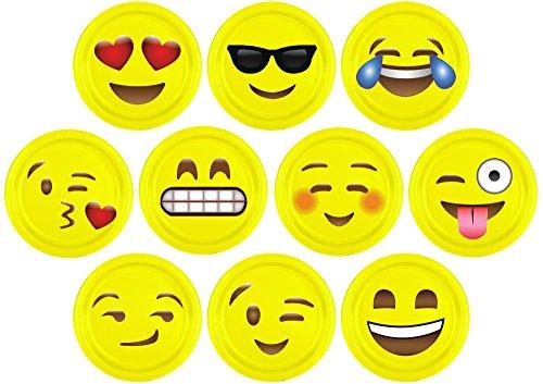 Super Cute Emoji Paper Plate Craft Emotions Theme Party Prop