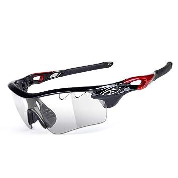 25b910609b Aili Lunettes Sportives Photochromiques Polarisée Coupe-Vent De Cyclisme  Vélo Ski Course Pêche Nautique Lunettes