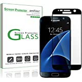 Galaxy S7 Screen Protector Glass (Full Screen Coverage), amFilm Bye-Bye-Bubble Samsung Galaxy S7 Tempered Glass Screen Protector [NOT S7 Edge] Case Friendly Screen Protector 2016 [Lifetime Warranty]