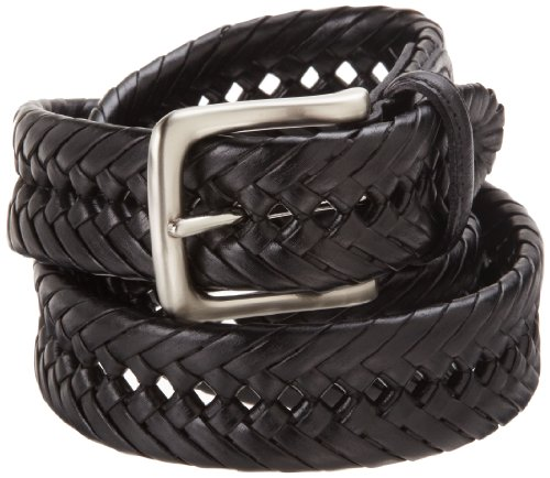Tommy Hilfiger Men's Casual Braiedd Belt,Black,38