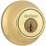 Kwikset 660 Single Cylinder Deadbolt featuring SmartKey in Polished Brass