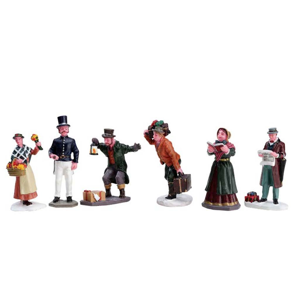 Lemax - Townsfolk Figurines, set of 6 92355