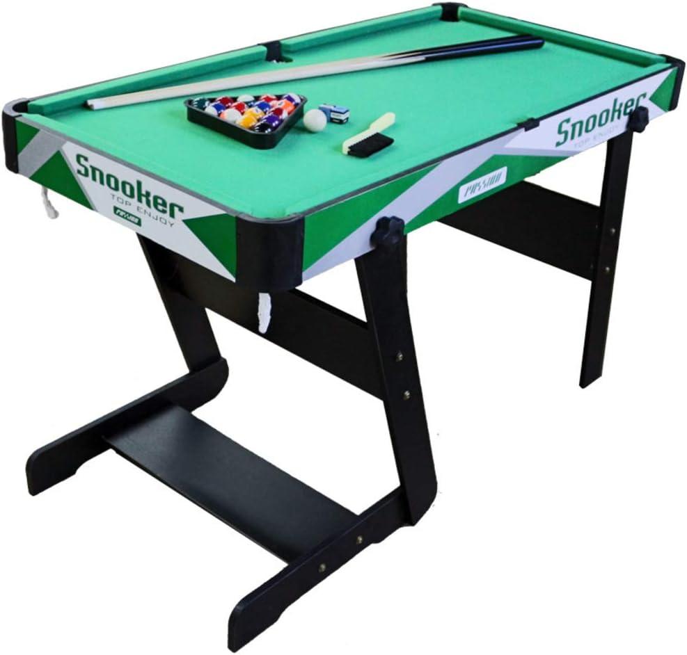 softneco Billar Pool Juego para Entretenimiento Familiar,Portátil Mesa Billar con Bolas Y Palos,Mini Mesa De Billar Uso Doméstico D 125.5x66x74cm(49x26x29inch): Amazon.es: Deportes y aire libre