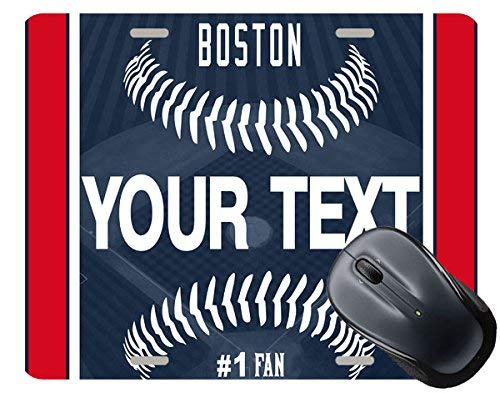 - BRGiftShop Personalize Your Own Baseball Team Boston Square Mouse Pad