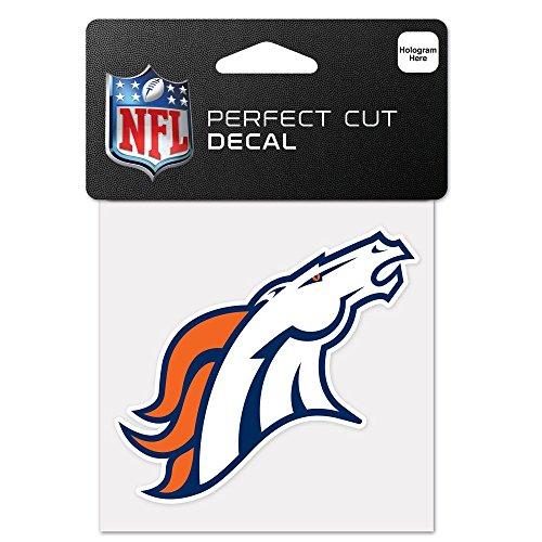 "Denver Broncos Perfect Cut Decal - 4""x4"""