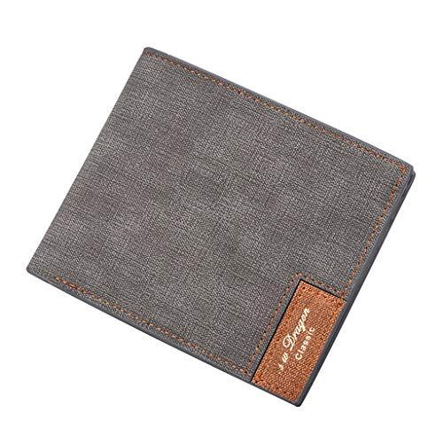 Wallet For Men,PAQOZ Vintage Clutch Slim Wallets Thin Money Dollar Card Holder Purses