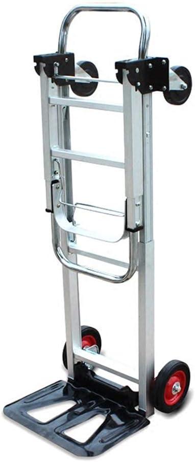 Carro de Equipaje Plegable de Aluminio, Carro de la Compra portátil de Trolley Manejo de mercancías Manejo de Carro Plano Tamaño 71 * 40 * 23cm (Color : La Plata, Tamaño : 71 * 40 * 23CM): Amazon.es: Hogar