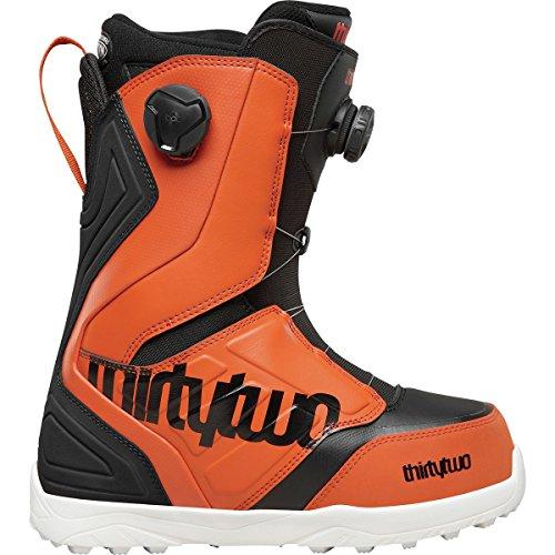 Lock Boa Snowboard Boots (ThirtyTwo Lashed Double Boa Snowboard Boot - Men's Black/Orange, 11.0)