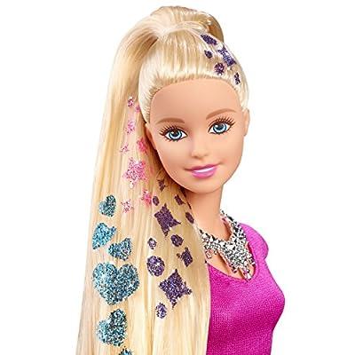 Barbie Glitter Hair Design Doll: Toys & Games