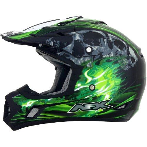 AFX FX-17 Inferno Helmet , Distinct Name: Black/Green, Gender: Mens/Unisex, Primary Color: Green, Helmet Type: Offroad Helmets, Helmet Category: Offroad, Size: Md 0110-3535