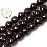 Kyпить 14mm Round Faceted Gemstone Garnet Beads Strand 15 Inches Jewelry Making Beads на Amazon.com