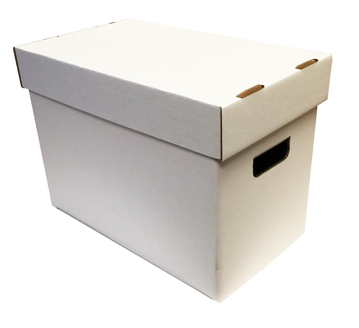 (5) Magazine Cardboard Storage Boxes - WHITE without Graphics by Max Pro
