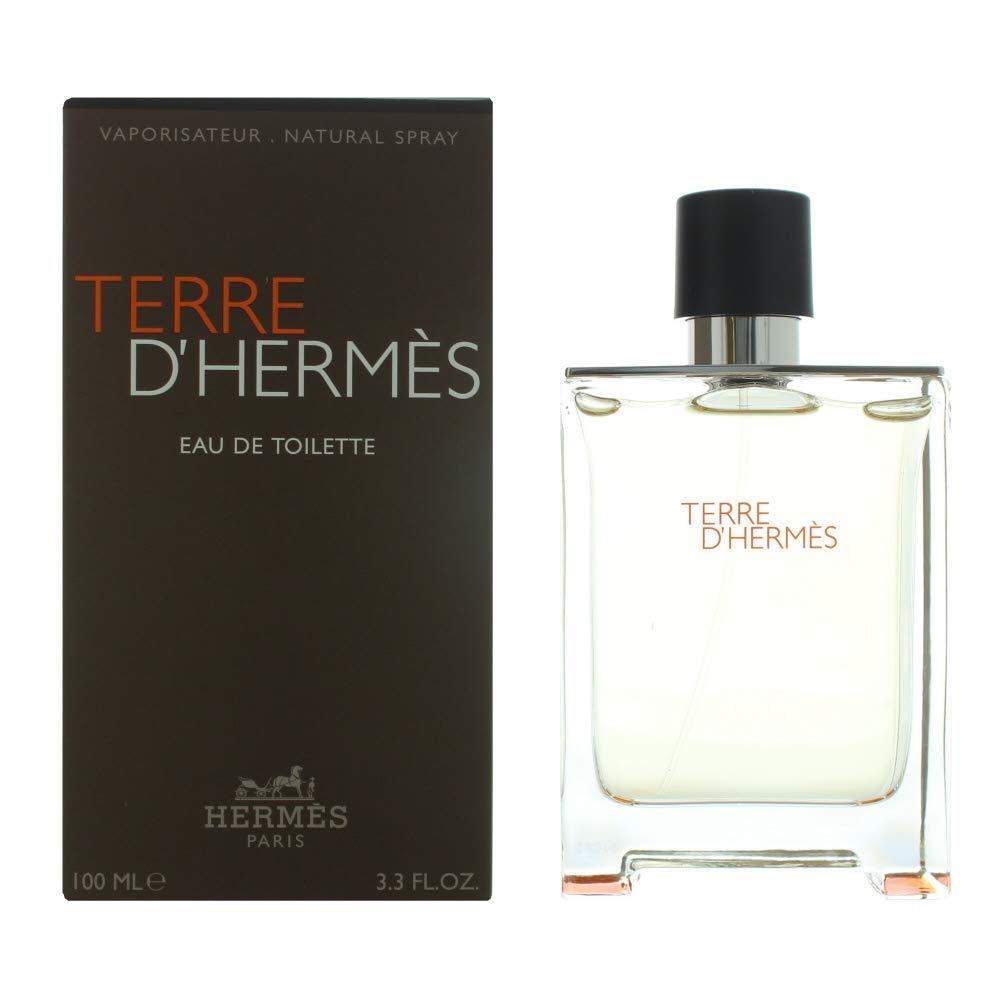 Hermes Terre D'Hermes Eau de Toilette Splash For Men, 3.3 Ounce