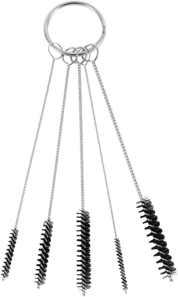 Lynn kit assortito per 17 pezzi 17 pezzi in acciaio inox per la pulizia dellaerografo