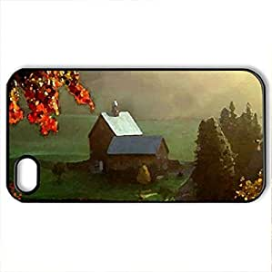 down in the valley - Case Cover for iPhone 4 and 4s (Farms Series, Watercolor style, Black) by icecream design