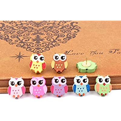 yalis-12-pcs-owl-push-pins-creative