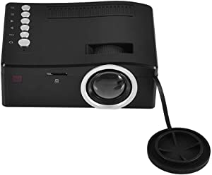 Zerone Home Theater Mini Projector HD 1080P, Portable LED Video Projector HD HDMI Media Player Home Theater with Cooling Fan US Plug for Home Entertainment, Support AV/USB/HDMI/SD Input(Black)