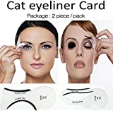 JERN Cat Eyeliner Stencil & Smokey Eye Makeup Tool - Set of 2
