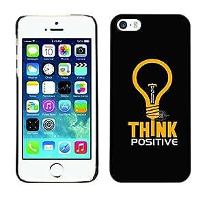 TopCaseStore / la caja del caucho duro de la cubierta de protección de la piel - Think Positive - Apple iPhone 5 / 5S
