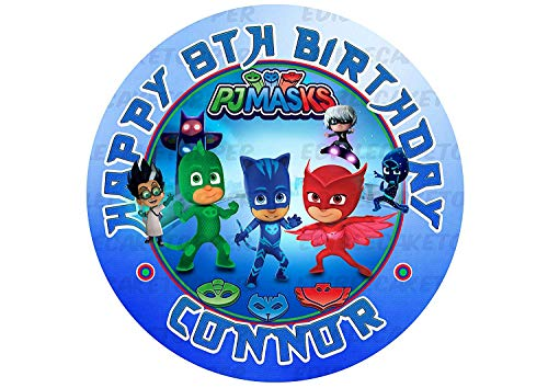 PJ Masks Edible Cake Topper Personalized Birthday 8