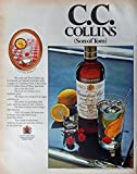 Canadian Club Whiskey, 60's Print ad. Full Page Color Illustration (C.C. Collins (son of Tom)) Original Vintage 1969 Look Magazine Print Art